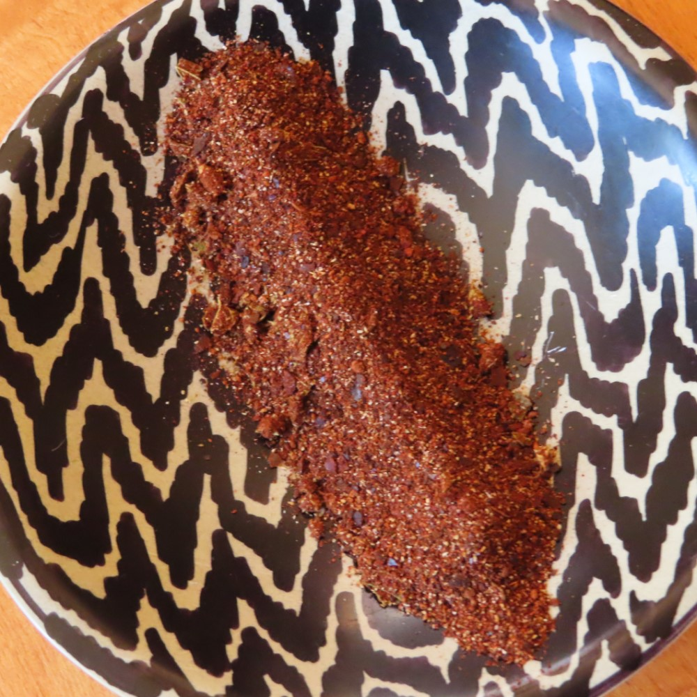Chipotle chili powder closeup